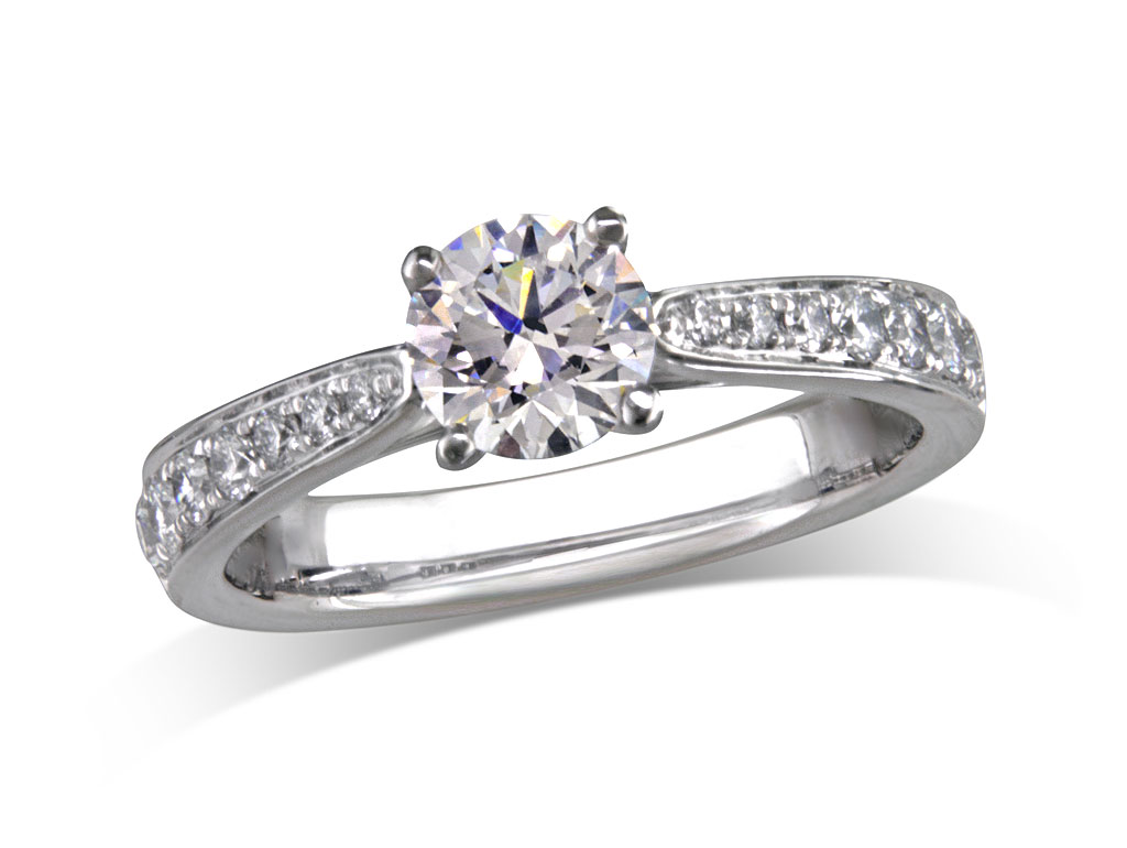 solitaire evan rings diamond roberts classic platinum engagement petite home ring