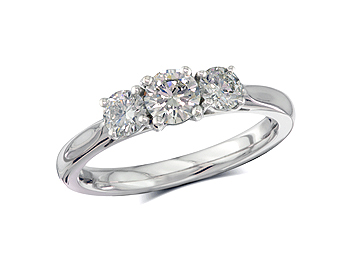 A 0.35, Brilliant, E, Three stone diamond ring. You can buy online or reserve online and view in store at Thurlow Champness, Bury St Edmunds