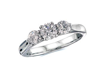 A 0.34ct centre, Brilliant, J, Three stone diamond ring. You can buy online or reserve online and view in store at Thurlow Champness, Bury St Edmunds