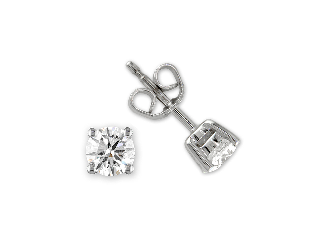 A 1.41ct total, Earrings, Solitaires  earrings06, Solitaire. You can buy online or reserve online and view in store at Jamieson and Carry, Aberdeen