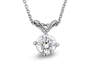 A 0.41ct total, Necklace, Solitaire Necklace GPON092474, Solitaire. You can buy online or reserve online and view in store at Michael Jones Jeweller, Grosvenor Northampton