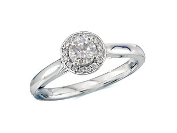 A 0.50ct centre, Brilliant, G, Cluster diamond ring. You can buy online or reserve online and view in store at Jamieson and Carry, Aberdeen