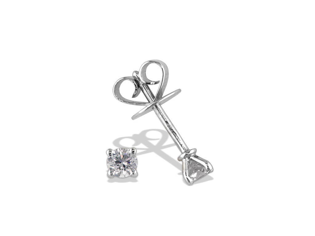 A 0.25ct, Earrings, Solitaire    GP01121, Solitaire. You can buy online or reserve online and view in store at Michael Jones Jeweller, Gold Street Northampton