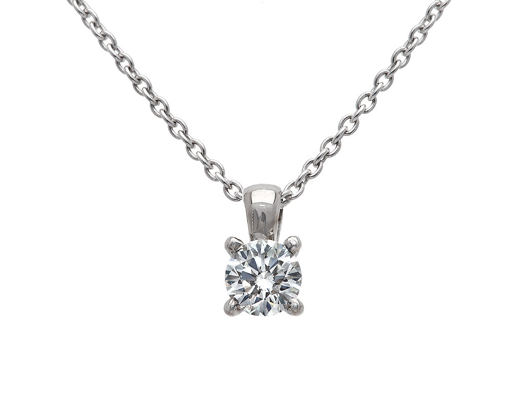 A 0.31ct, Necklace, Solitaire GPON036210, Solitaire. You can buy online or reserve online and view in store at Michael Jones Jeweller, Banbury
