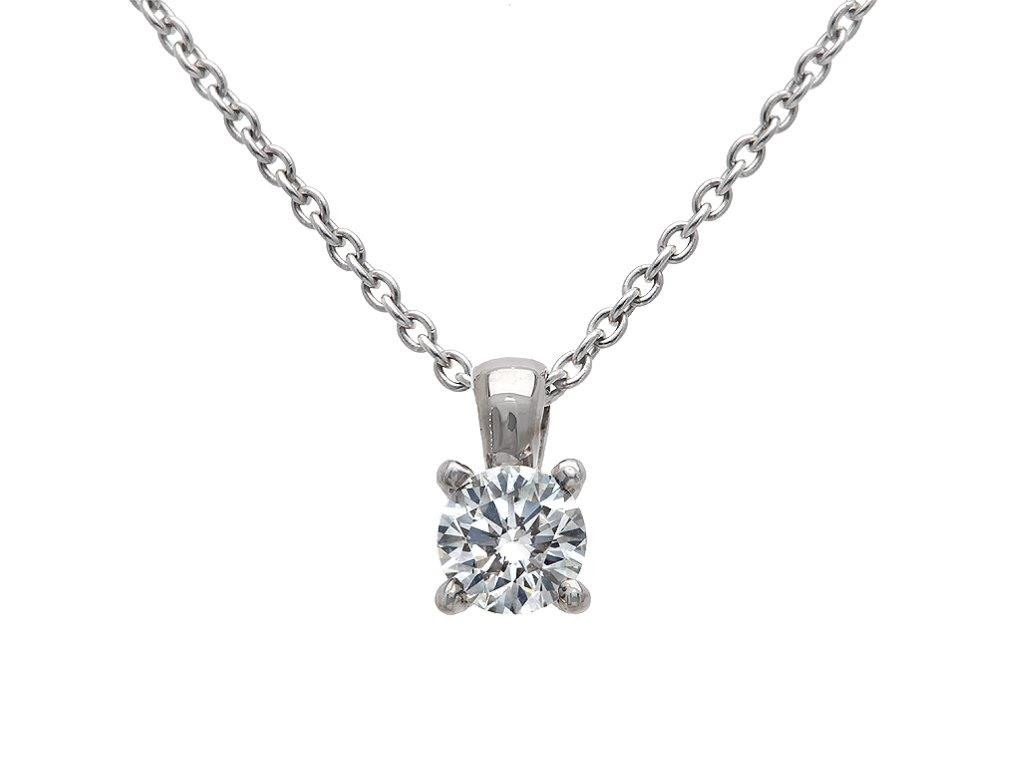 A 0.37ct, Necklace, Solitaire ...GP00159, Solitaire. You can buy online or reserve online and view in store at Michael Jones Jeweller, Gold Street Northampton