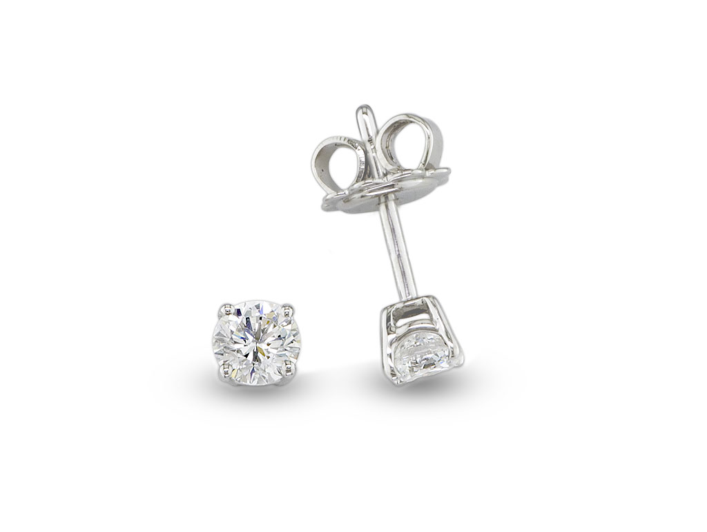 A 0.60ct total, Earrings, Solitaires  earrings05, Solitaire. You can buy online or reserve online and view in store at Jamieson and Carry, Aberdeen