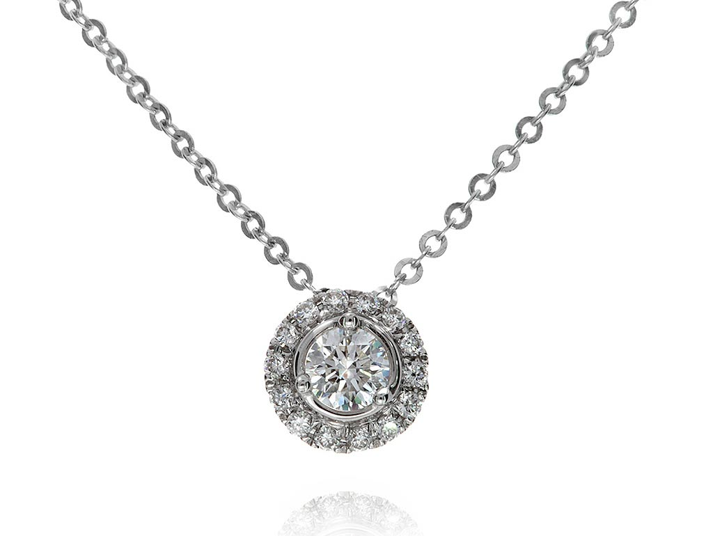 A 0.13ct centre, Necklace, Embrace GPON036204, Embrac. You can buy online or reserve online and view in store at Michael Jones Jeweller, Gold Street Northampton