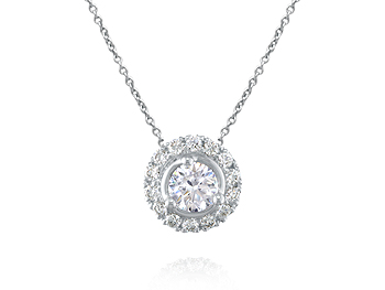 A 0.40ct centre, Necklace, Embrace .....GP00372, Embrac. You can buy online or reserve online and view in store at Michael Jones Jeweller, Gold Street Northampton