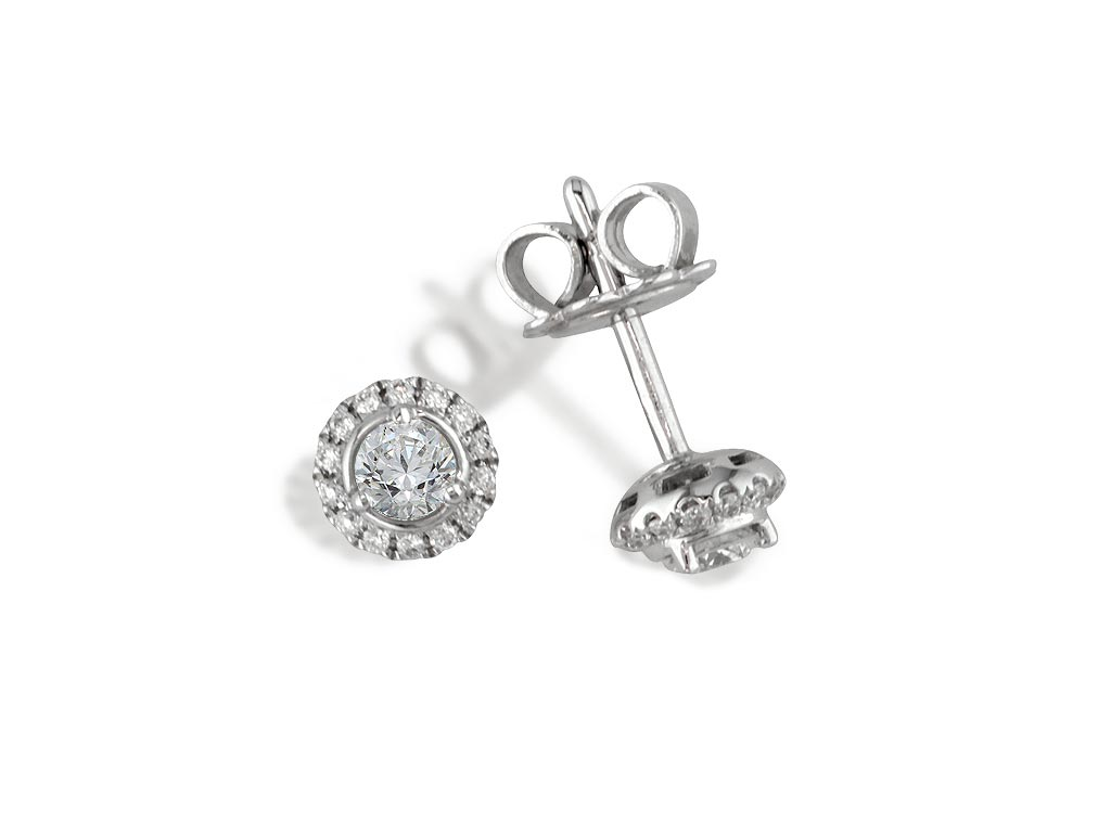 A 0.26ct centre, Earrings, Embrace   GPOE075684, Embrac. You can buy online or reserve online and view in store at Michael Jones Jeweller, Grosvenor Northampton