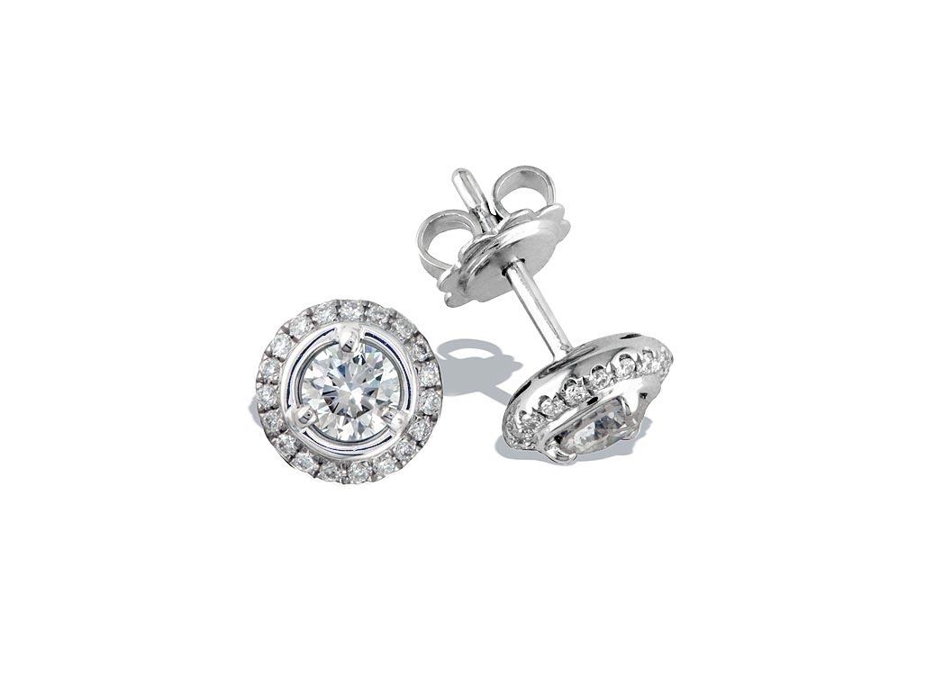 A 0.60ct centre total, Earrings, Embrace GPOE105002, Embrac. You can buy online or reserve online and view in store at Michael Jones Jeweller, Gold Street Northampton