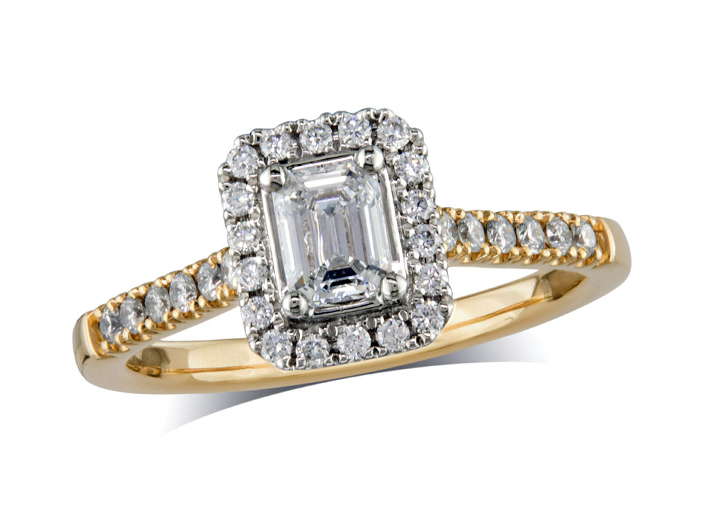 Lunns Engagement Ring Emerald Cut
