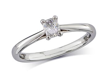 A 0.23, Radiant, F, Single stone diamond ring. You can buy online or reserve online and view in store at Thurlow Champness, Bury St Edmunds