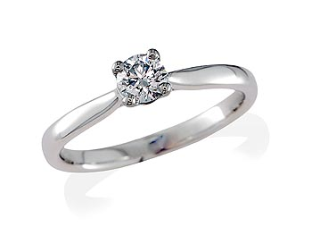 A 0.30ct, Brilliant, D, Single stone diamond ring. You can buy online or reserve online and view in store at Michael Jones Jeweller, Gold Street Northampton