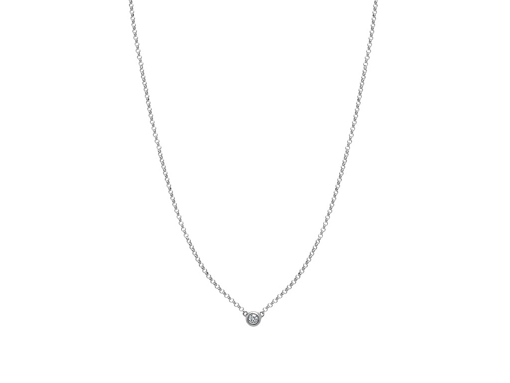 A 0.13ct, Necklace, Love Diamonds Necklace01, Love Diamond. You can buy online or reserve online and view in store at Michael Jones Jeweller, Gold Street Northampton