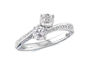 A 0 80ct Pair Brilliant H Three Stone Diamond Ring You Can
