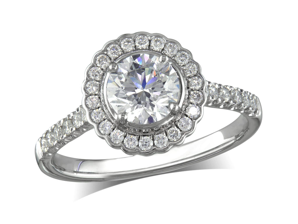 cluster diamond rings at Jamieson Carry Portfolio Of Fine Diamonds