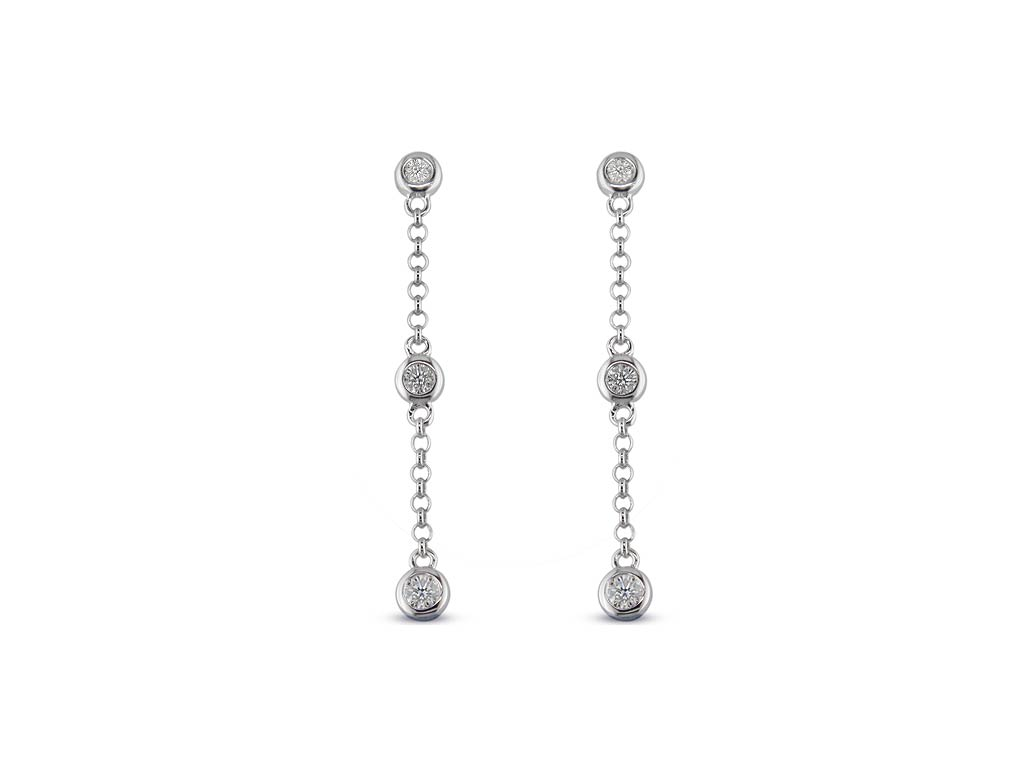 A 0.20ct total, Earrings, Love Diamond earrings01, Love Diamond. You can buy online or reserve online and view in store at Jamieson and Carry, Aberdeen