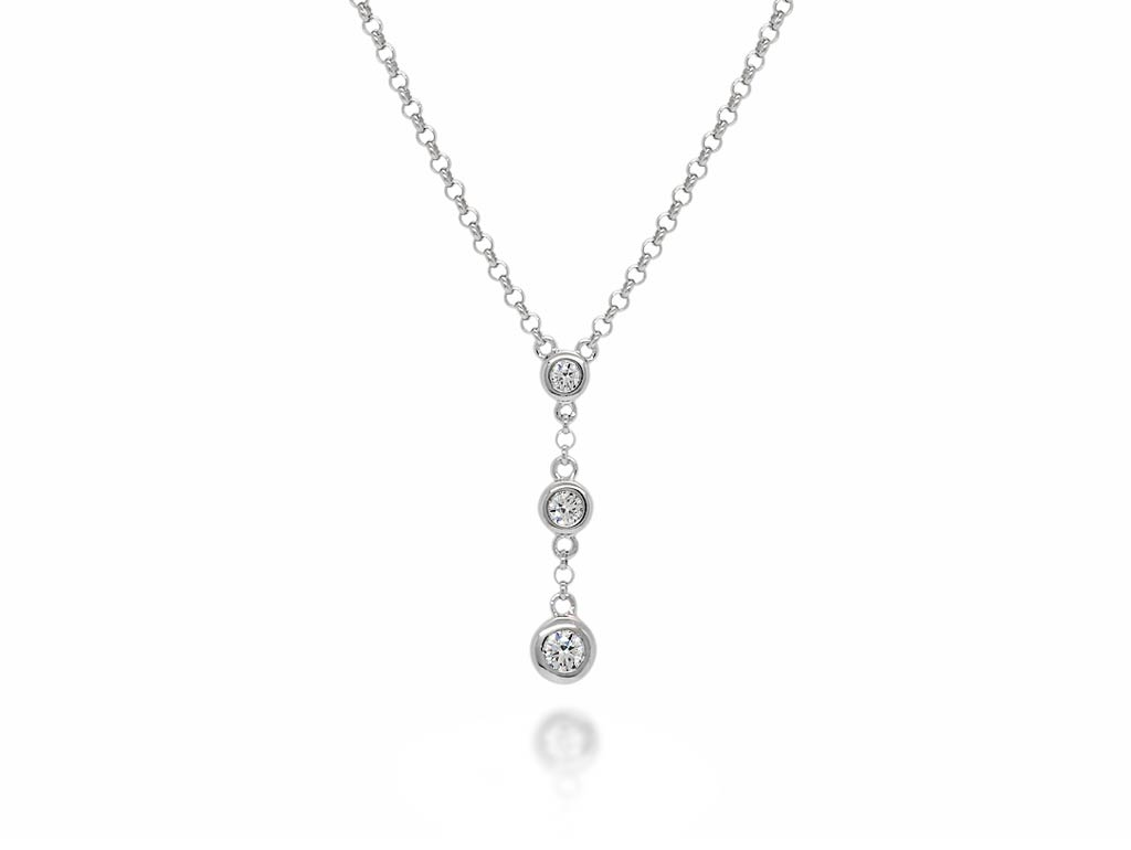 A 0.16ct total, Necklace, Love Diamonds necklace03, Love Diamond. You can buy online or reserve online and view in store at Jamieson and Carry, Aberdeen