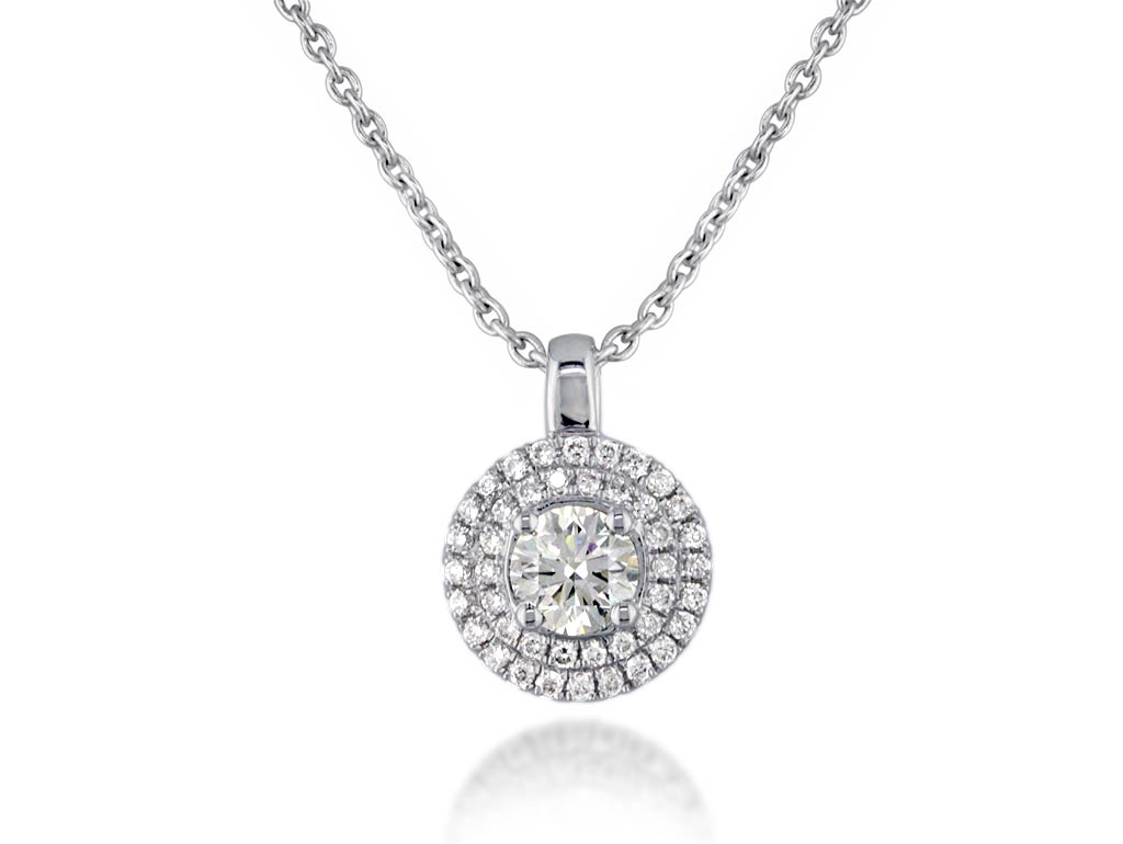 A 0.80ct centre, Necklace, Embrace  pendant02, Embrac. You can buy online or reserve online and view in store at Jamieson and Carry, Aberdeen