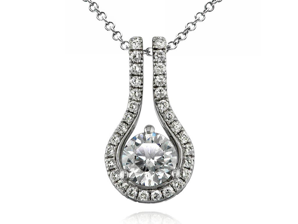 A 0.90ct centre, Necklace, Embrace necklace01, Embrac. You can buy online or reserve online and view in store at Jamieson and Carry, Aberdeen