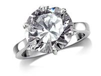 Platinum set single stone diamond engagement ring, with a certificated brilliant cut centre in a six claw setting.