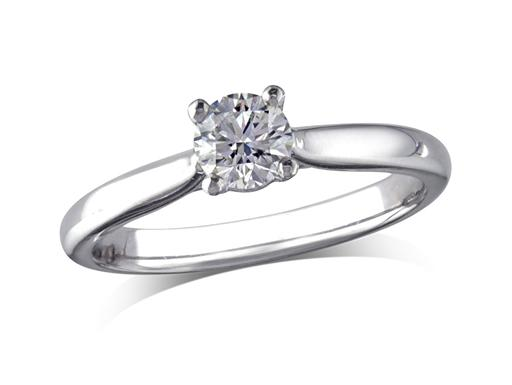 Platinum set single stone diaPlatinum set single stone diamond engagement ring, with a certificated brilliant cut, in a four claw setting. Perfect fit with a wedding ring.mond engagement ring, with a certificated brilliant cut, in a four claw setting. Perfect fit with a wedding ring.