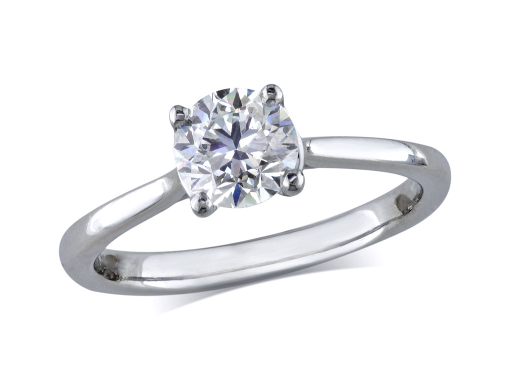 single stone diamond rings at Jamieson Carry Portfolio Of Fine Diamonds