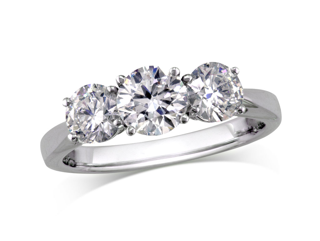 three stone diamond rings at Jamieson Carry Portfolio Of Fine Diamonds